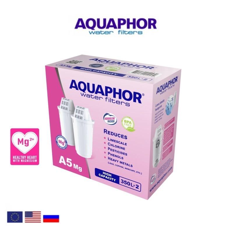 Aquaphor A5 Mg (2 Τεμαχίων) Ανταλλακτικό Φίλτρο - Aquaphor