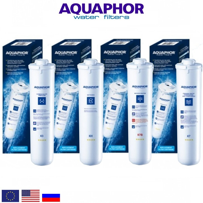 Aquaphor Crystal Quadro Replacement Set Ανταλλακτικό Σετ Φίλτρων - Aquaphor