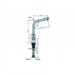 Aquaphor C126 ανοξείδωτη μπαταρία (βρύση) κουζίνας τριών παροχών - Aquaphor